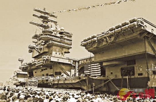 圖:冷戰時期,美國軍艦頻繁靠泊香港