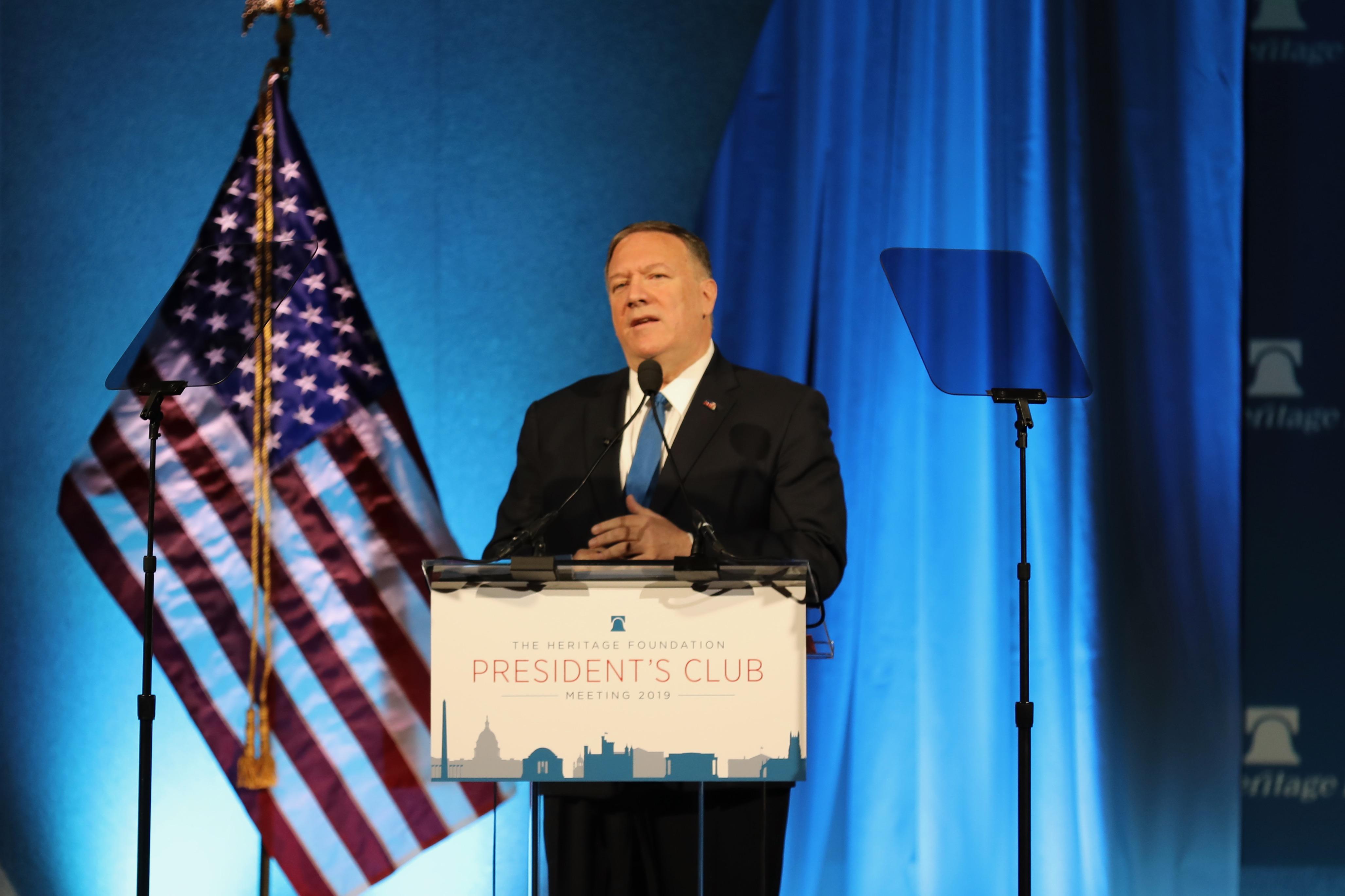 美國國務卿蓬佩奧(中央社圖片)