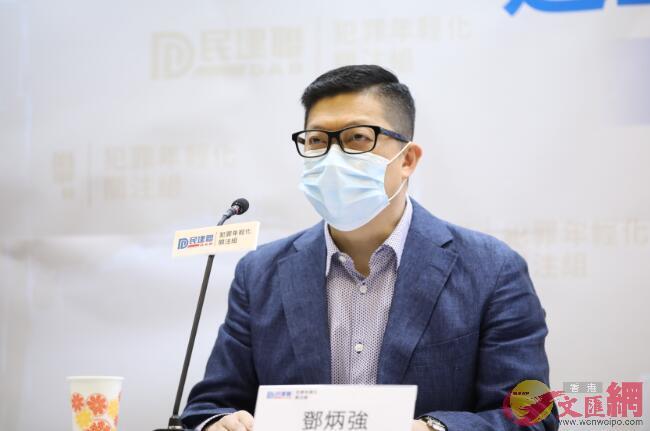 鄧炳強表示,去年6月至今年4月,共有8057人涉及反修例事件被捕。(香港文匯報記者 李斯哲攝)
