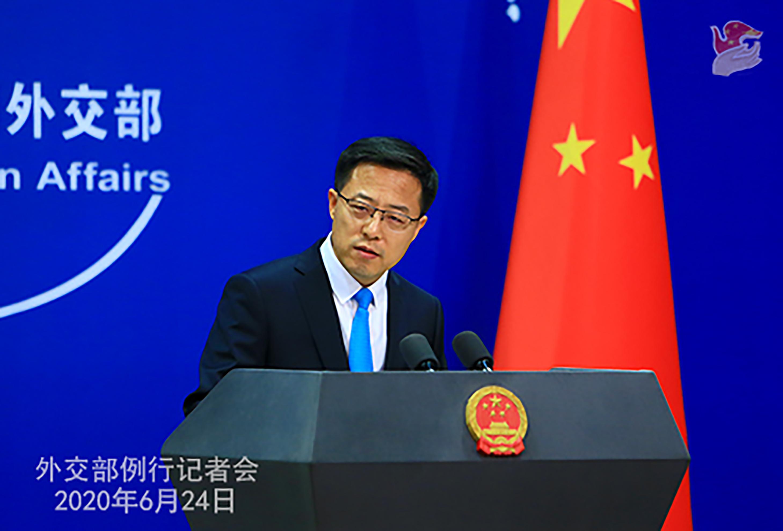 趙立堅表示,中方決定對在涉港問題上表現惡劣的美方人員實施簽證限制(外交部圖片)