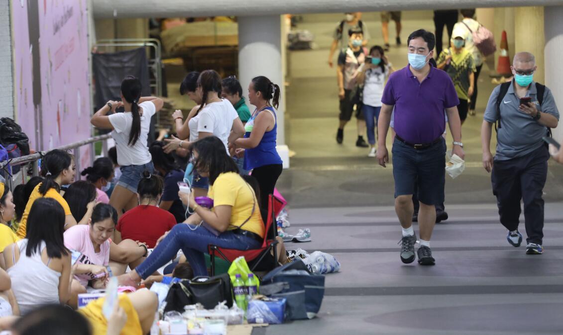 因應疫情影響,港府准許9月底到期外傭合約延長一個月。(資料圖片)