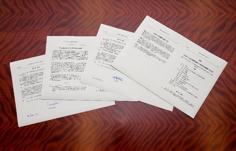 香港國安法有關公布經特首簽署刊憲後已經即時生效。(政府新聞處)