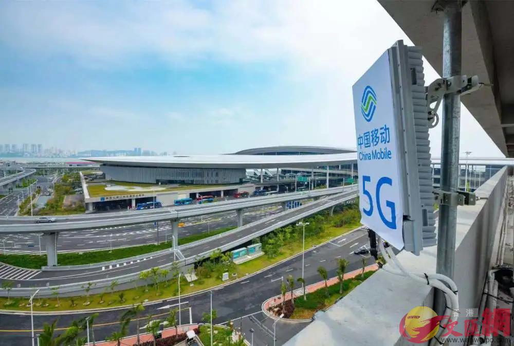 5G助力港珠澳大橋建成世界一流的數字化大橋,圖為大橋珠海口岸。(方俊明攝)