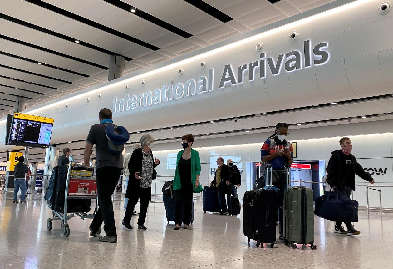 港澳台旅客入境英格蘭免隔離14日。(路透社資料圖片)