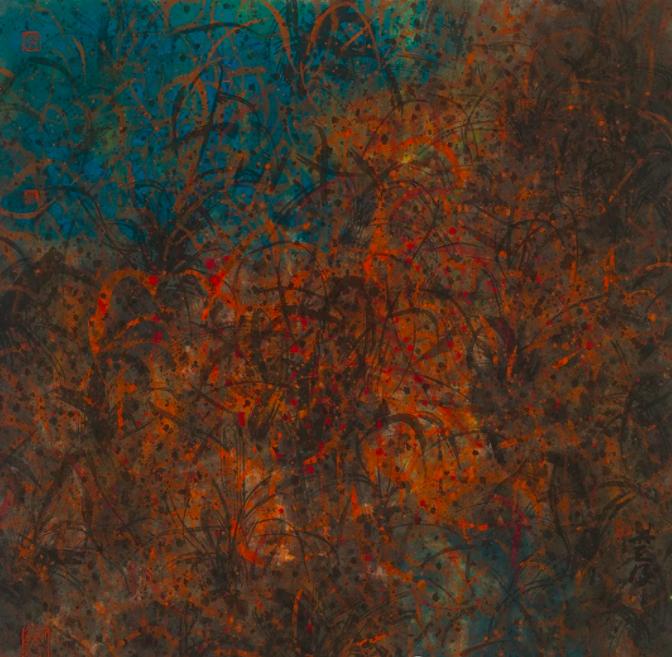 林天行畫作《清波》 74 x 72 cm 2020 水墨設色紙本