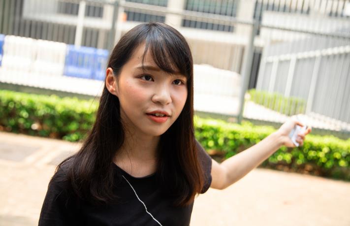 前「香港眾志」成員周庭涉嫌違反香港國安法被捕(彭博社資料圖片)