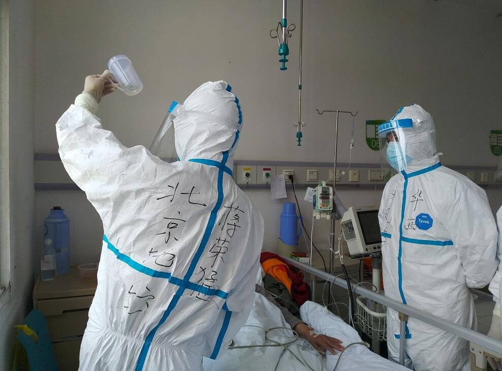 蔣榮猛今年先後在武漢、北京、新疆參加抗疫救治。受訪者提供