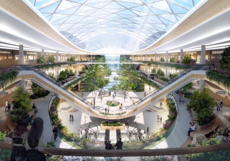 T3航站樓以「花開羊城·羊城花冠」為設計概念,打造「會呼吸的」航站樓。(設計圖)